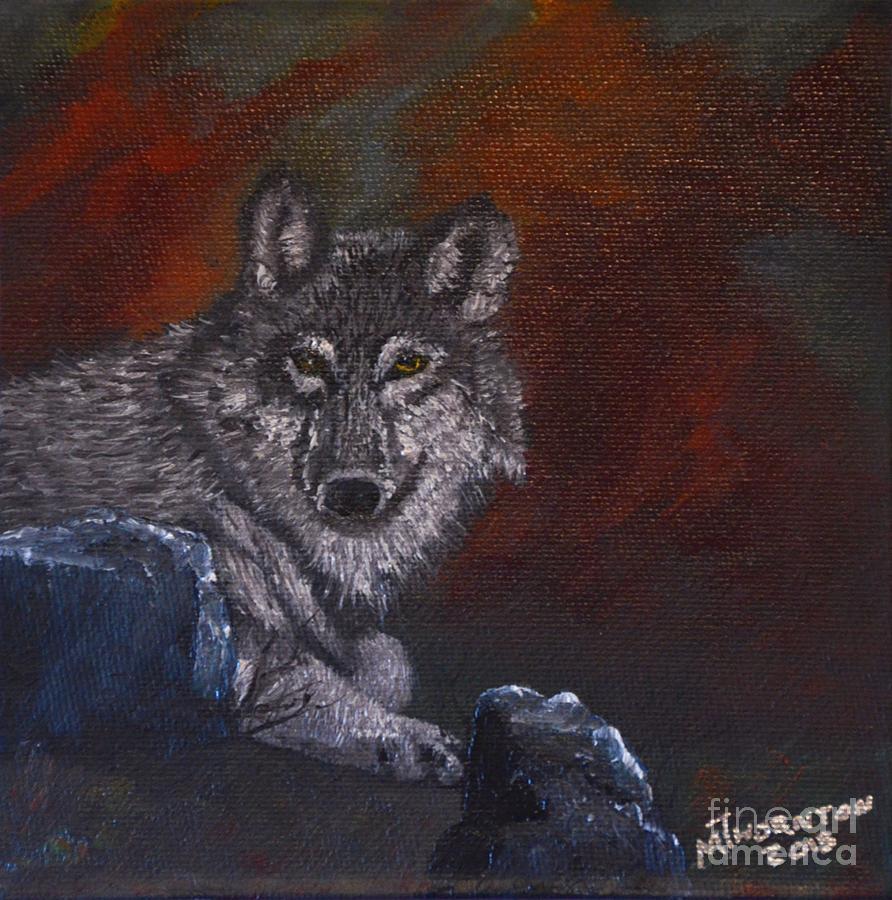 Lone Wolf Painting by Marsha Thornton