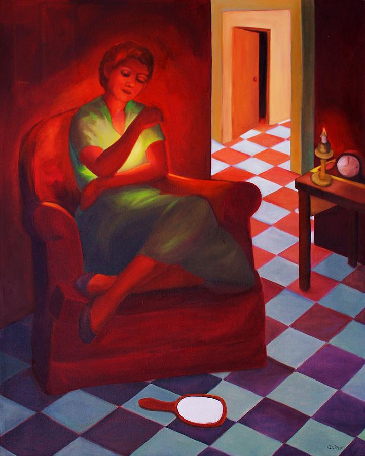 Figurative Painting - Loneliness Within by Clotilde Espinosa