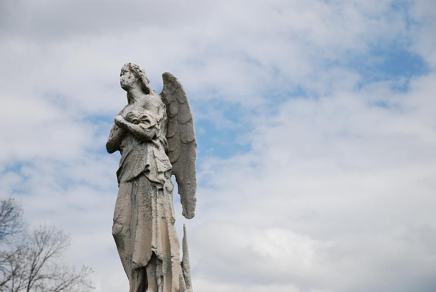 Cemetery Photograph - Lonely Angel by Jennifer Ancker