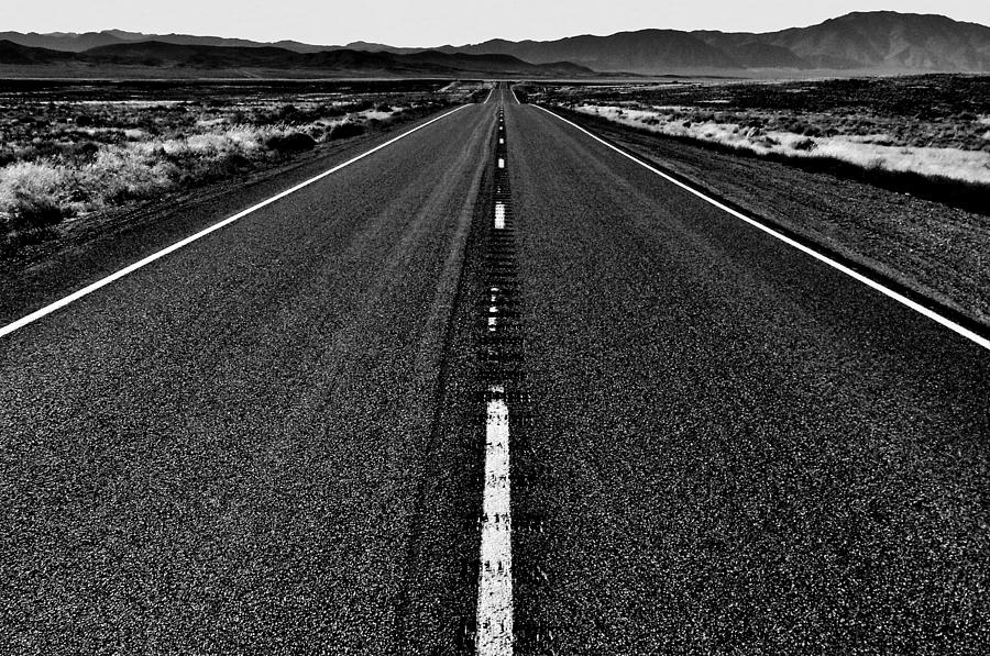 Highway Photograph - Lonely by Benjamin Yeager