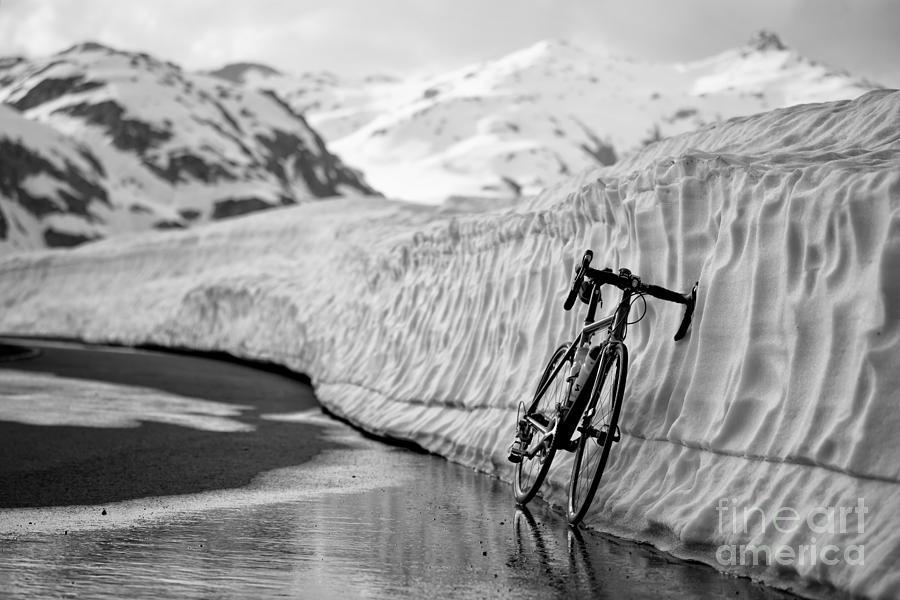 Bicycle Photograph - Lonely Bike by Maurizio Bacciarini