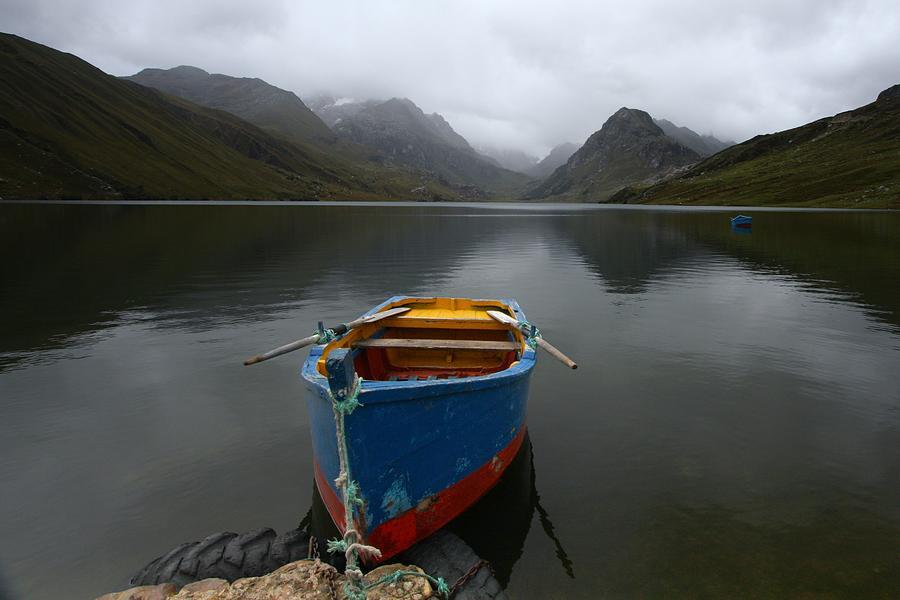 Boat Photograph - Lonely Boat by Dan Breckwoldt