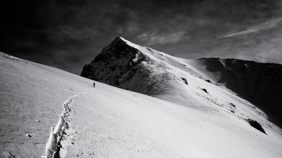 Climb Photograph - Lonely Climber by Marcel Rebro