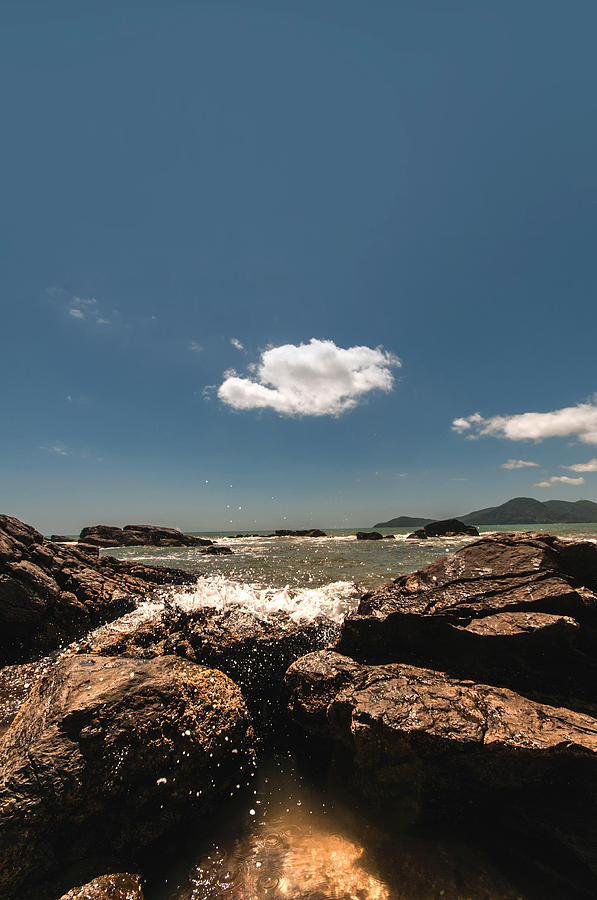Beach Photograph - Lonely Cloud by Jose Maciel