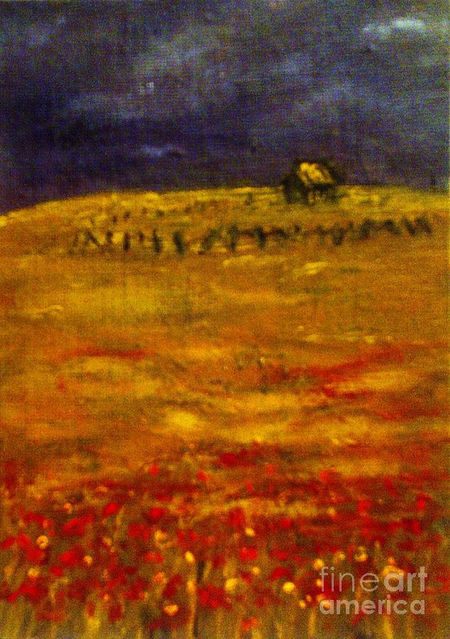 Lonely Farmhouse Painting by C Fanous