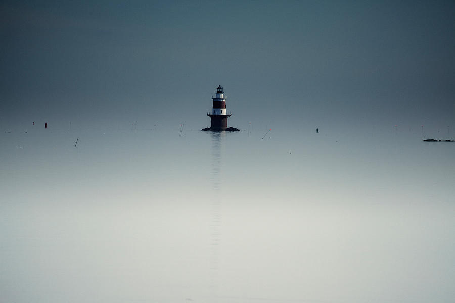 Lighthouse Photograph - Lonely Lighthouse  by Karol Livote