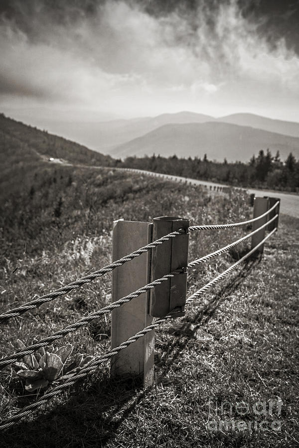 Vermont Photograph - Lonely Mountain Road by Edward Fielding