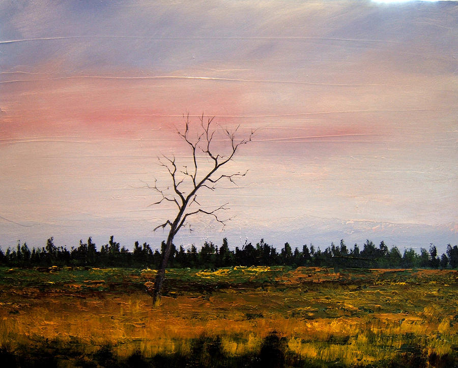 Acrylic Painting - Lonely Place by William Renzulli