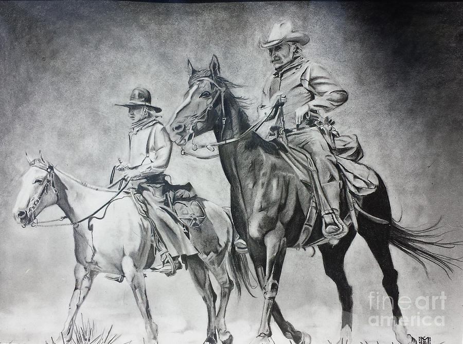 Well-liked Lonesome Dove Ride Drawing by Jeffrey McDonald HI26