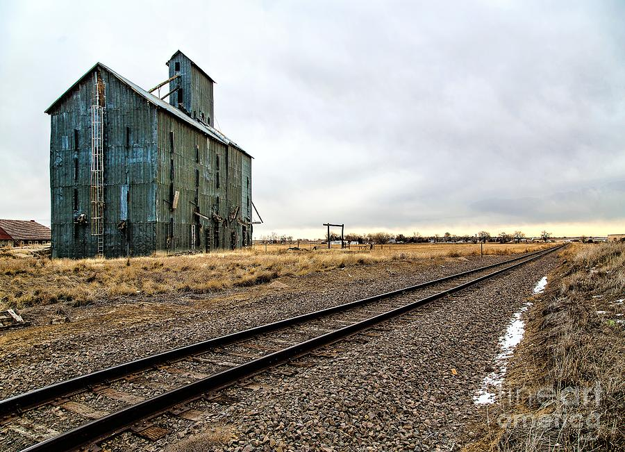 Grain Elevator Photograph - Lonesome Road by Jon Burch Photography