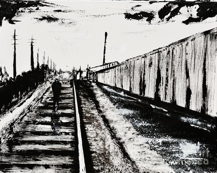 Train Whistle Painting - Lonesome Whistle by Alys Caviness-Gober