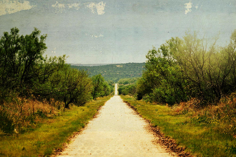 Country Photograph - Long And Lonely Road by Mikki Cromer