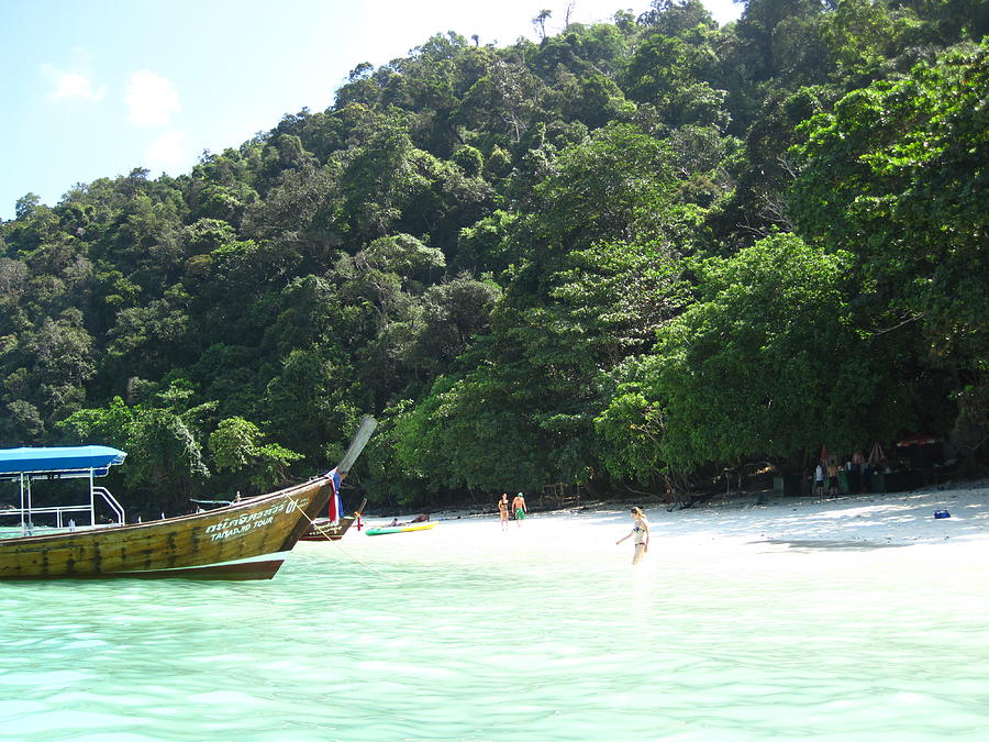 Phi Photograph - Long Boat Tour - Phi Phi Island - 0113170 by DC Photographer