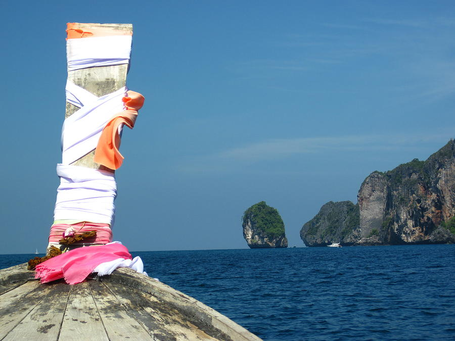 Phi Photograph - Long Boat Tour - Phi Phi Island - 0113182 by DC Photographer