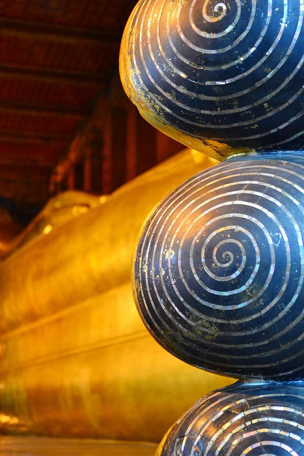 Ancient Sculpture - Long Buddha Statue by Chaichana Pratomwong
