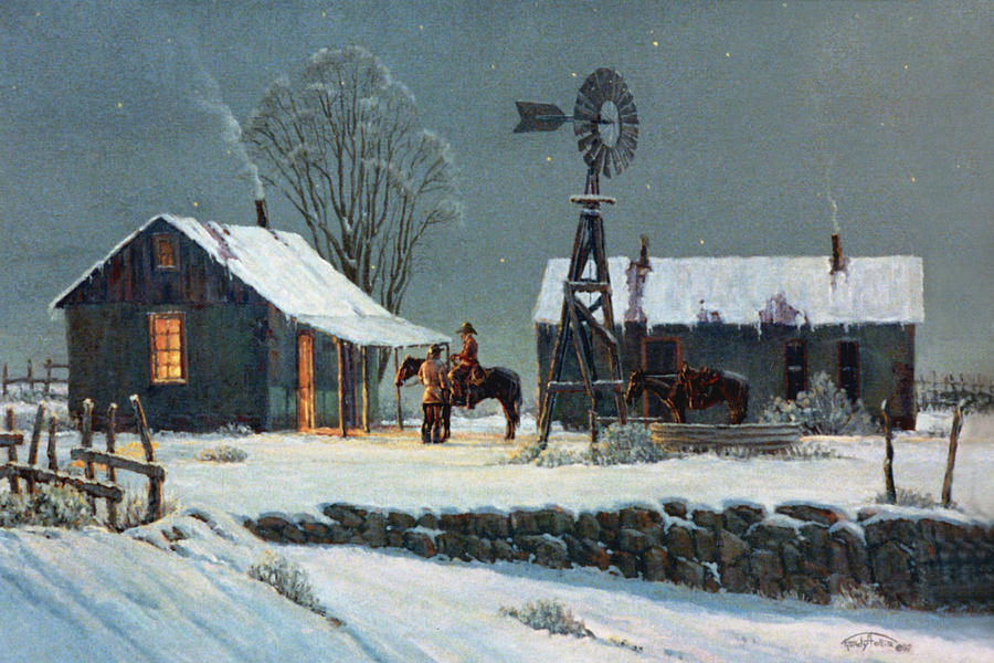 Night Painting - Long Days End by Randy Follis