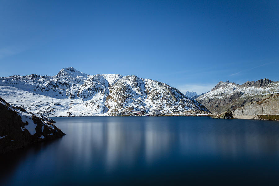 Long exposure of Totesee Grimsel Pass Switzerland by Charles Lupica