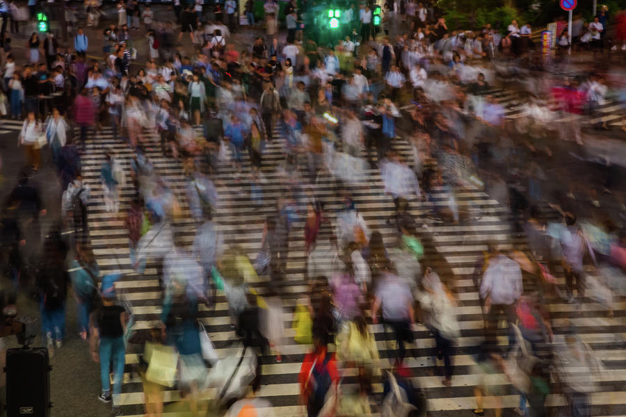 Long Exposure Picture Of People Photograph by Artur Debat