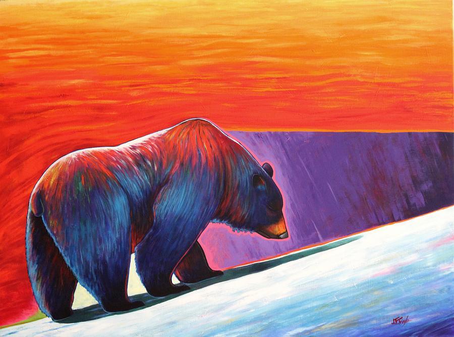 Bear Painting - Long Journey by Joe  Triano
