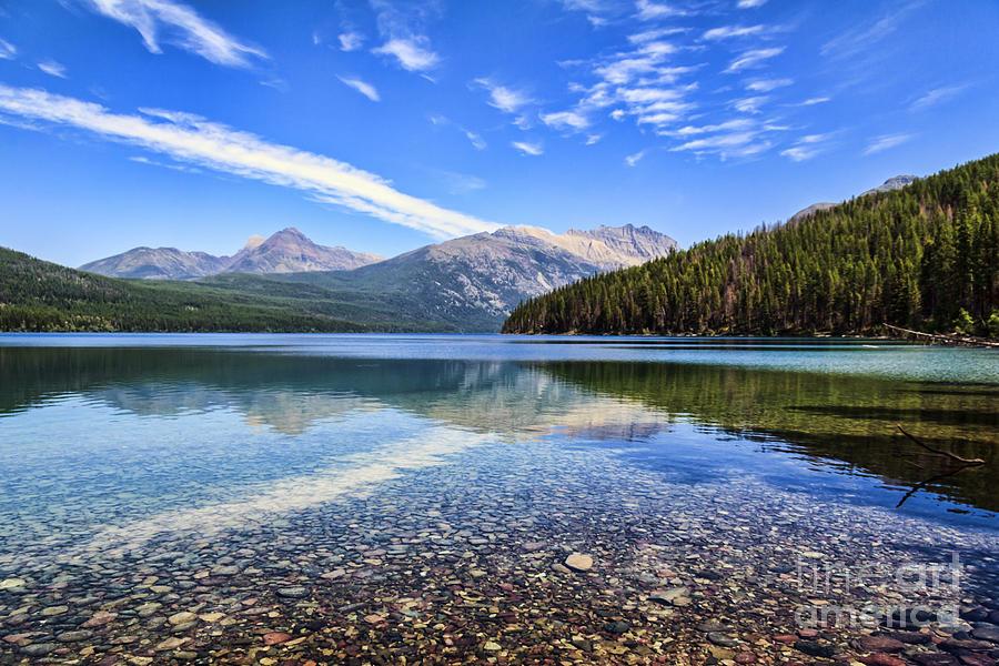 Kintla Lake Photograph - Long Knife Peak At Kintla Lake by Scotts Scapes