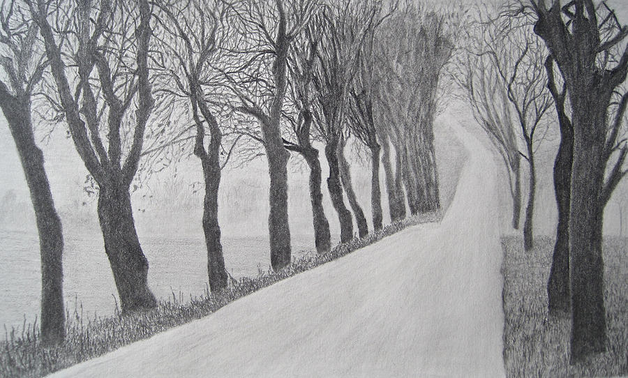 Long Road Ahead Drawing by Neelesh Jain
