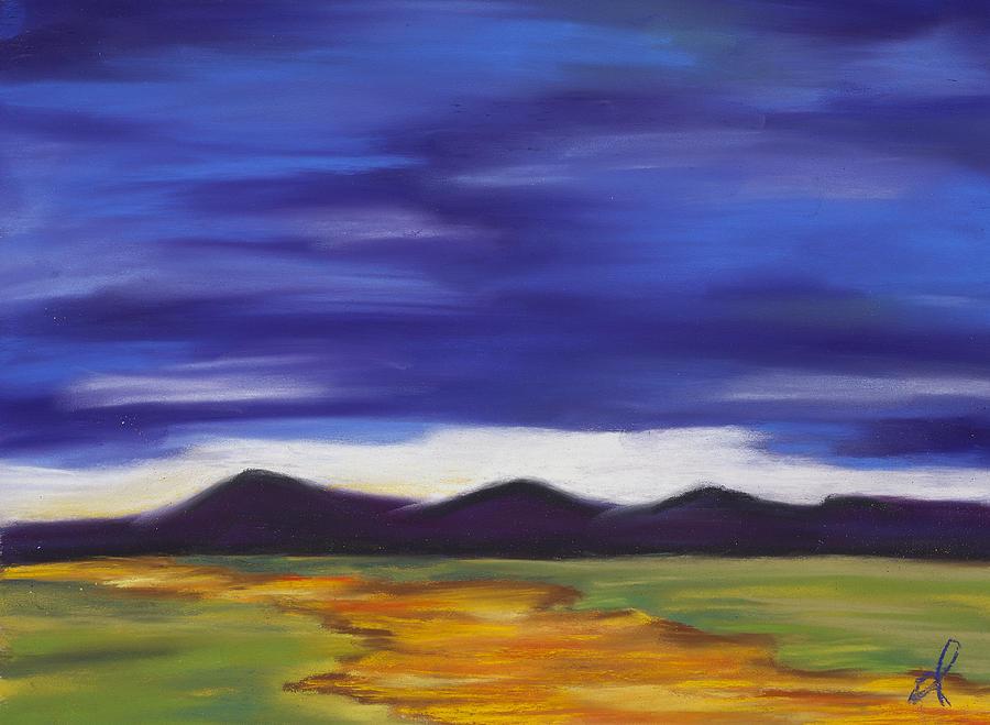 Landscape Pastel - Long Road Home by Dana Strotheide