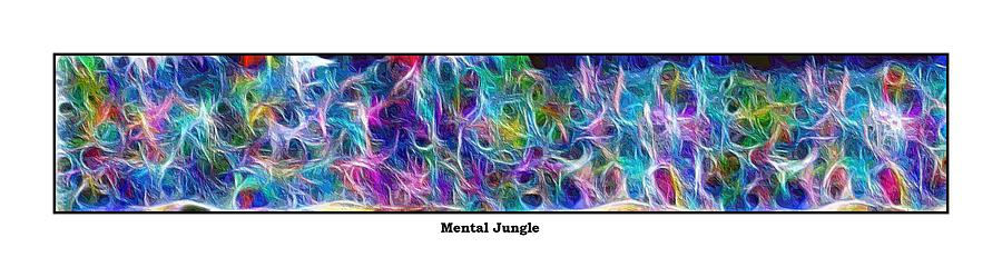 Abstract Pastel - Long Series -- Mental Jungle by George Curington