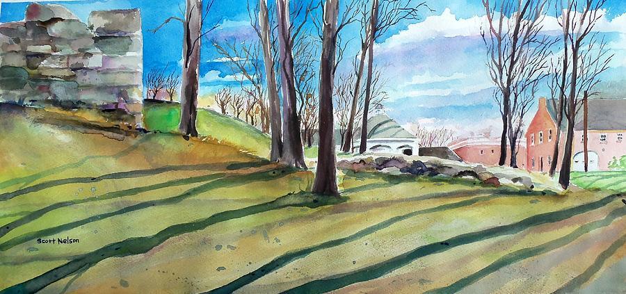 Millbury Painting - Long Shadows by Scott Nelson