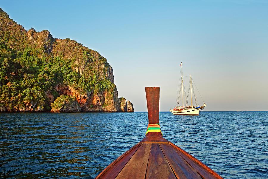 Long Tail Boat Koh Phi Phi, Thailand Photograph by John W Banagan