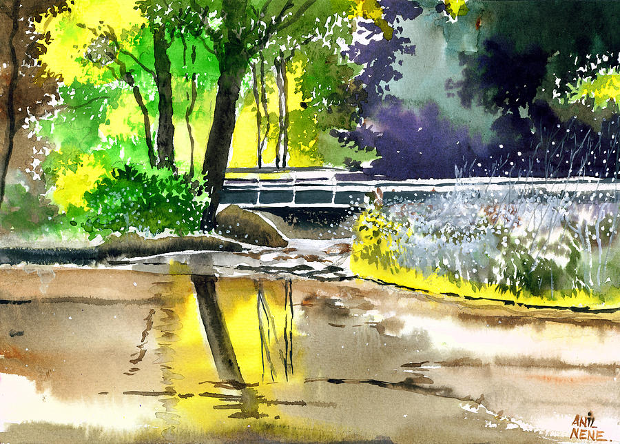Nature Painting - Long Time No See by Anil Nene