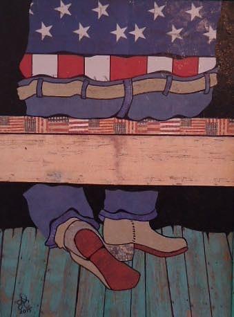 Texas Drawing - Long Wait To Dance by Glenn Calloway