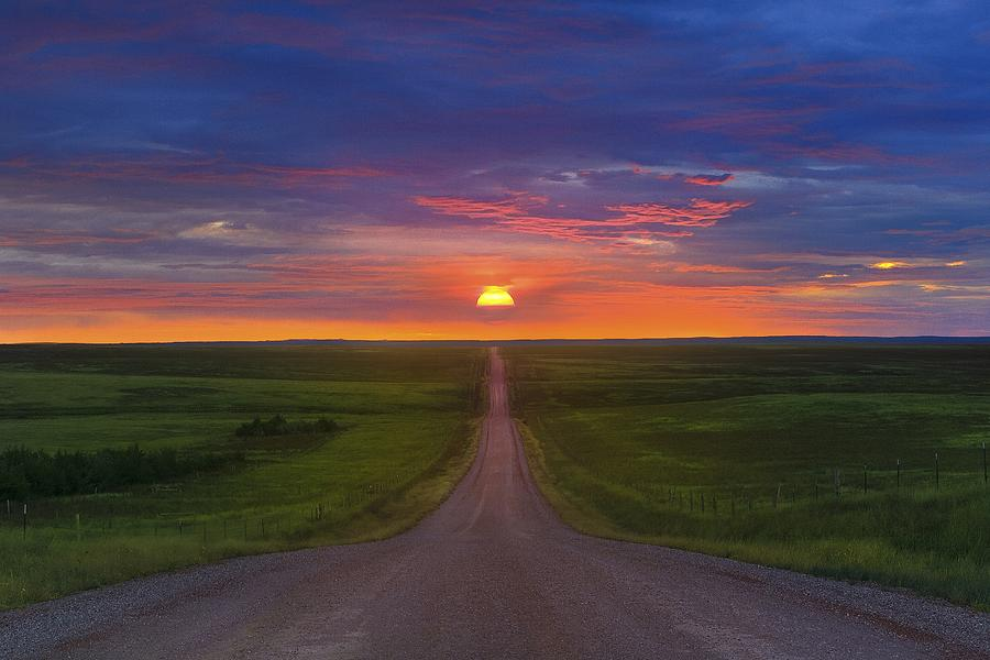 Landscape Photograph - Long Way To Go by Kadek Susanto