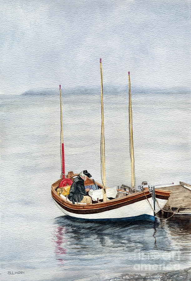 Longboat Painting by Sandy Linden