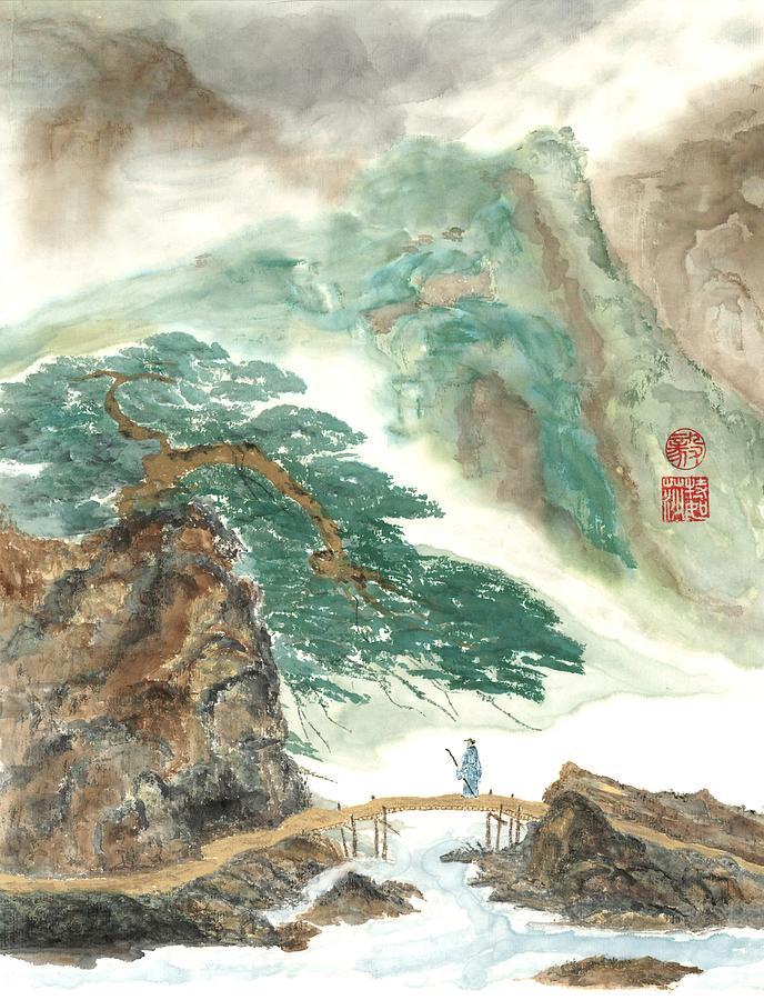 Japanese Painting - Longevity by Terri Harris