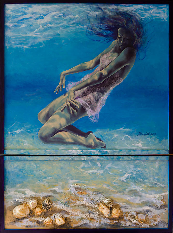 Fantasy Painting - Longing From The Depths by Dorina  Costras