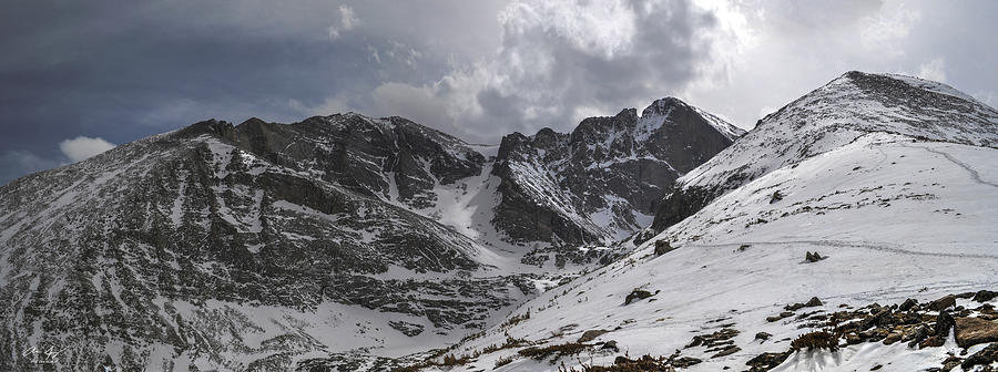Longs Peak Photograph - Longs Meeker And Lady Washington by Aaron Spong