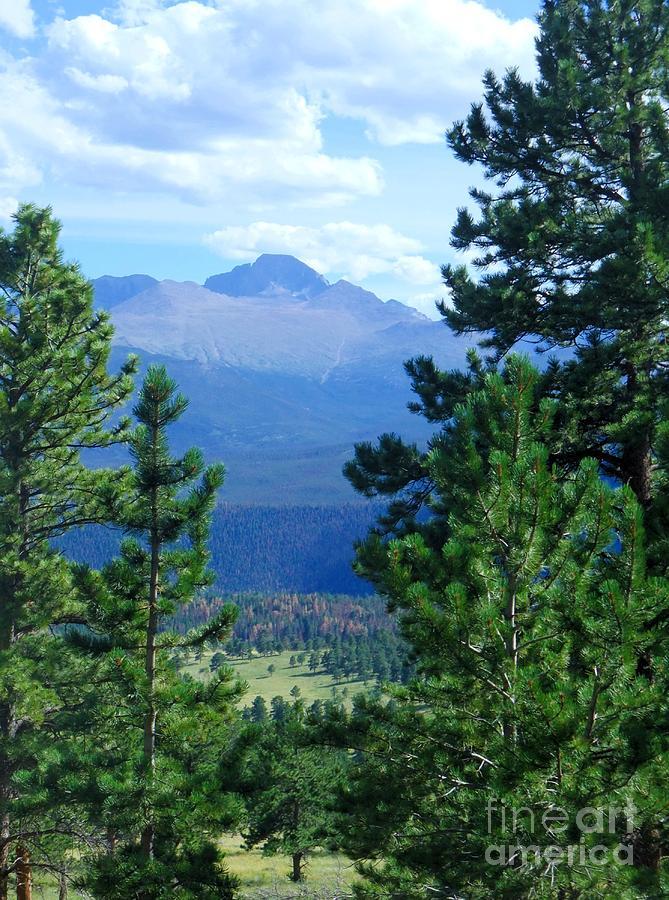 Peak Photograph - Longs Peak A Fourteener by Stephen Schaps