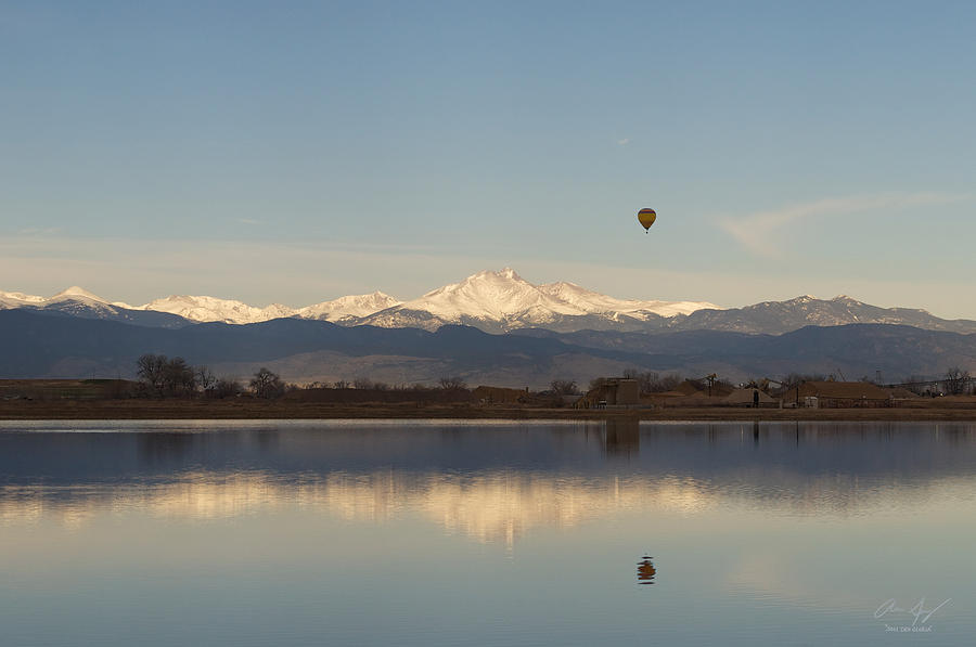 Longmont Photograph - Longs Peak Hot Air Balloon by Aaron Spong