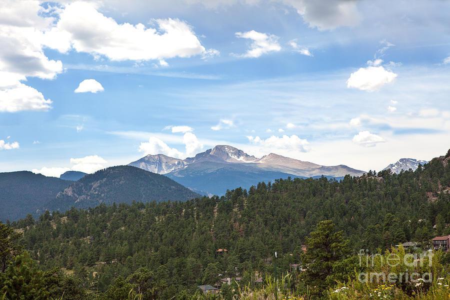 Longs Peak Photograph - Longs Peak by Kay Pickens