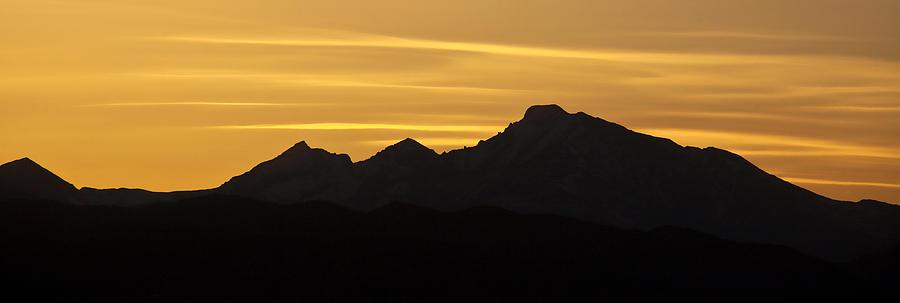 Longs Peak Silhouette Photograph By Marilyn Hunt