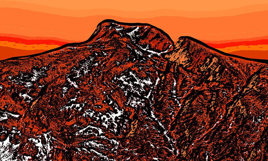 Longs Peak - Colorado Digital Art
