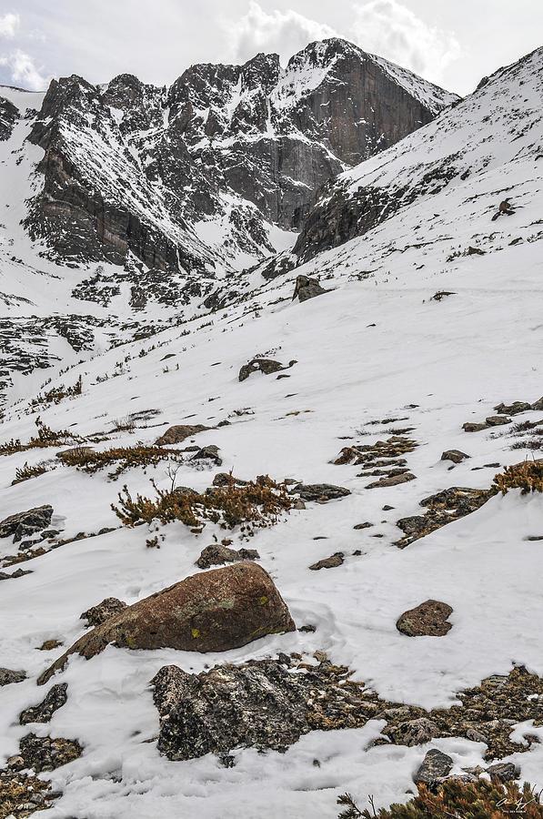 Longs Photograph - Longs Peak -  Vertical by Aaron Spong