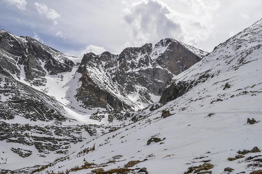 Longs Photograph - Longs Peak Winter by Aaron Spong