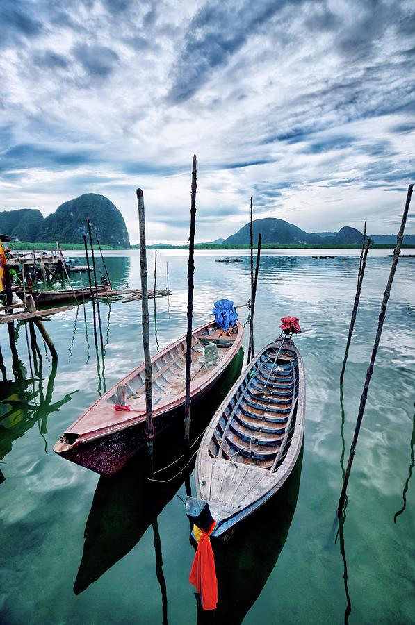 Longtail Wooden Fishing Boat In Phuket Photograph by Aleksandargeorgiev
