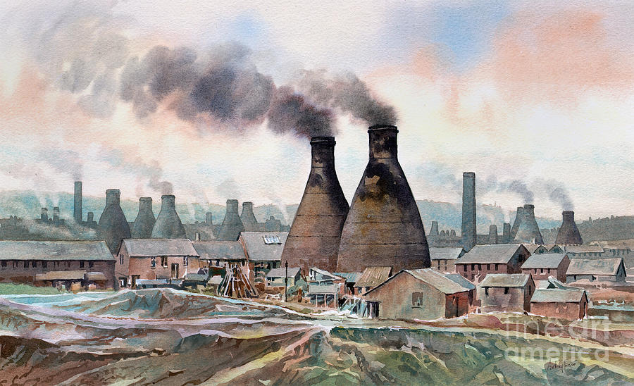 Potteries Painting - Longton Marlhole by Anthony Forster