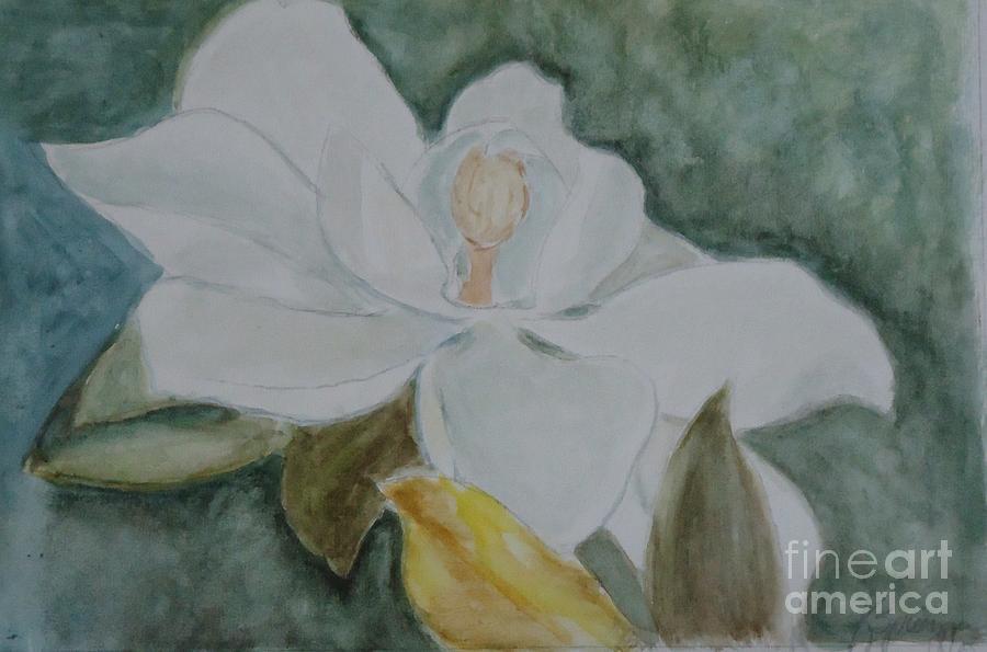 Floral Painting - Longue Vue Magnolia 3 by Katie Spicuzza