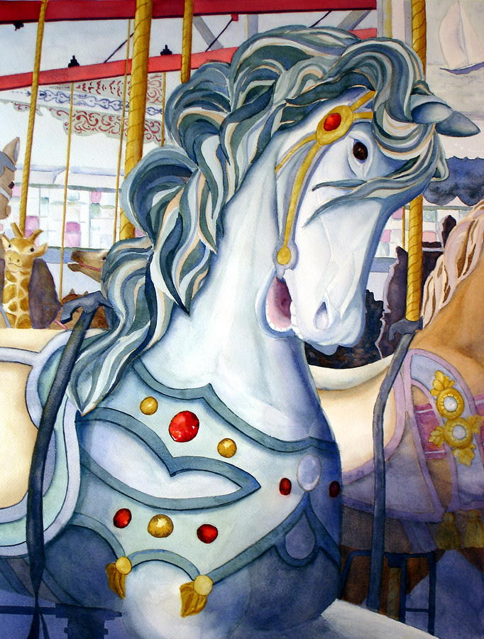 Carousel Painting - Looff Carousel by Daydre Hamilton