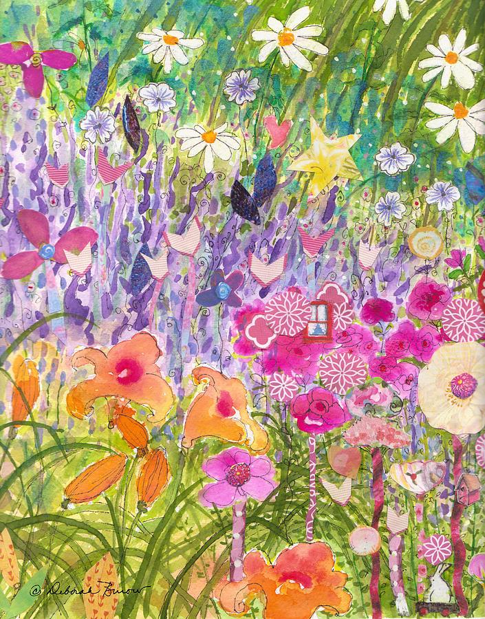 Flower Forest Painting - Look Deep Within by Deborah Burow