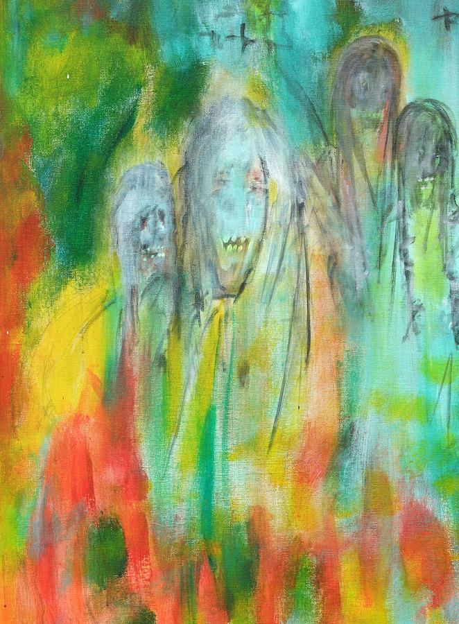 Ghosts Painting - Look by Randall Ciotti