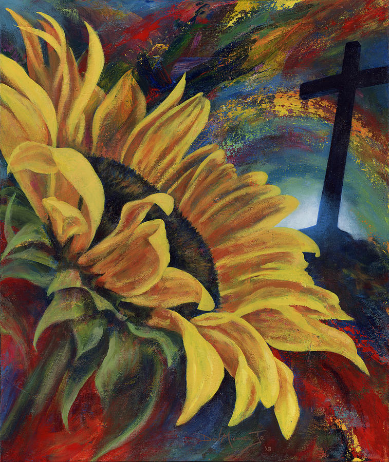 Sunflower Painting - Look To The Son by Don Michael Jr